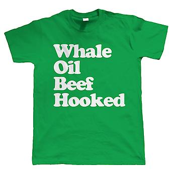 Vectorbomb, Whale Oil Beef Hooked (Say it Quickly), Mens Funny Irish T Shirt (S to 5XL)