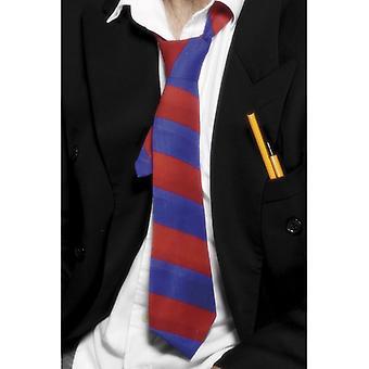 Skolan slips röd och blå