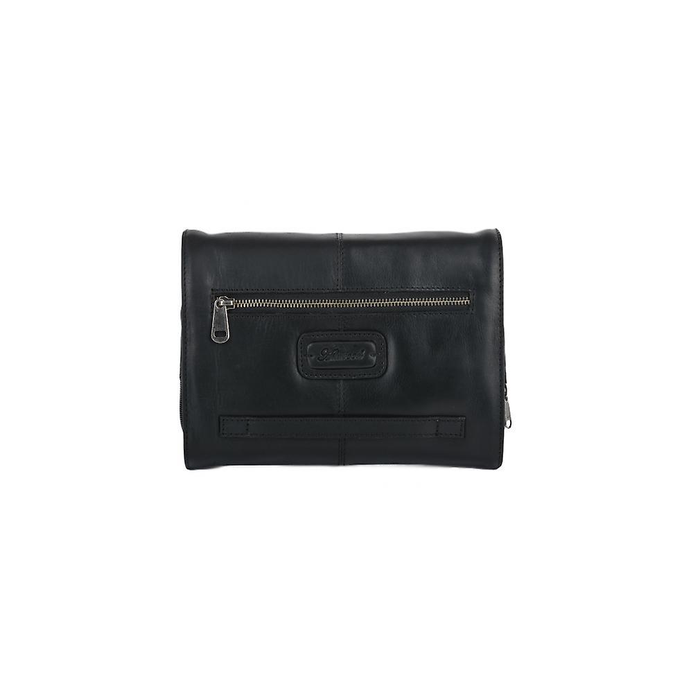 351cf950711 Ashwood Mens Ashwood Phil Leather Hanging Wash Bag