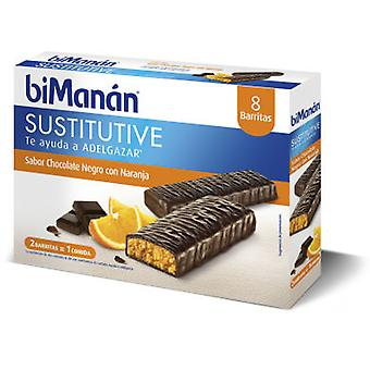 Bimanan Barres au chocolat et à l'orange Bimanan (Pack 8)