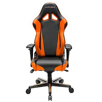 DX Racer DXRacer OH/RV001/NO High-Back Racing Style Office Chair Carbon Look Vinyl+PU(Black/Orange)