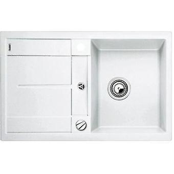 Blanco Metra 45S-F sink white automatic valve