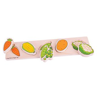 Bigjigs Toys Chunky Lift and Match Vegetable Puzzle