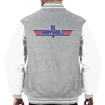 Top Gun Logo Grayskull Masters Of The Universe Men's Varsity Jacket