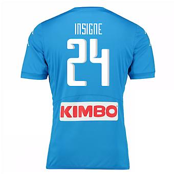 2016-17 Napoli authentiek thuis Shirt (Insigne 24)