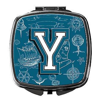 Buchstabe Y Meer Kritzeleien erste Alphabet Taschenspiegel