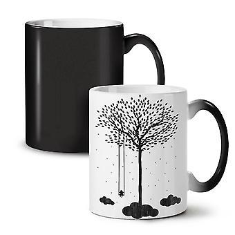 Tree Cloud Space Nature NEW Black Colour Changing Tea Coffee Ceramic Mug 11 oz | Wellcoda