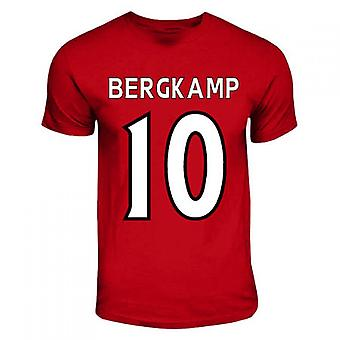 Dennis Bergkamp Arsenal Hero T-shirt (red)