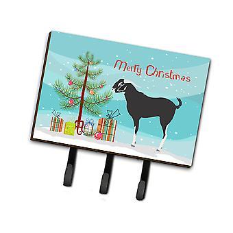 Carolines Treasures  BB9251TH68 Black Bengal Goat Christmas Leash or Key Holder