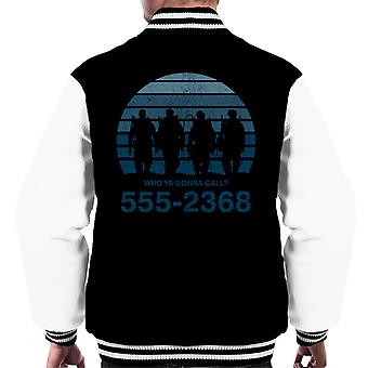 Who Ya Gonna Call Sunset Ghostbusters Men's Varsity Jacket