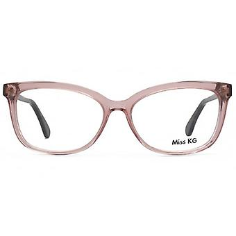 Miss KG Nicola Cateye Glasses In Crystal Pink