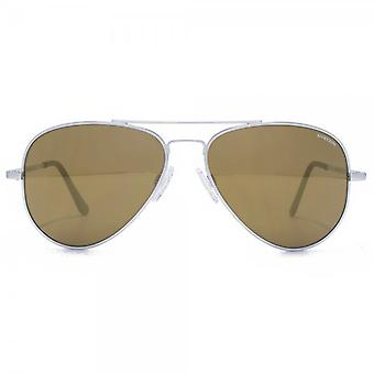Randolph Engineering Concorde Pilot Sunglasses In Matte Chrome Bronze Flash