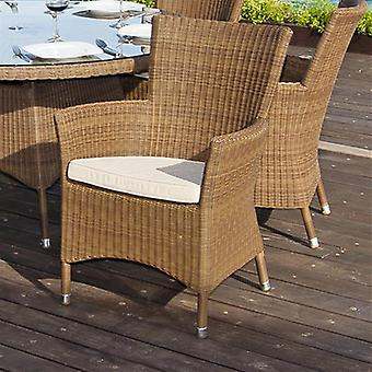 Alexander Rose San Marino Rattan Squared Top Armchair with Cushion
