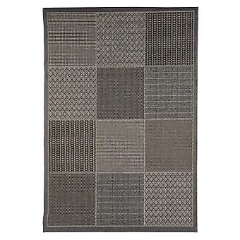 In - and outdoor carpet living room, balcony / terrace grey brown 135 x 190 cm