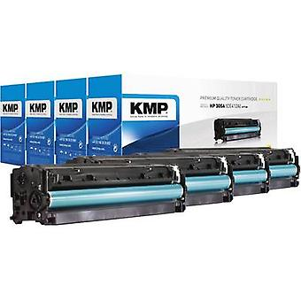 KMP Toner cartridge combo pack replaced HP 305X, CE410A, CE411A, CE412A, CE413A, CE410X