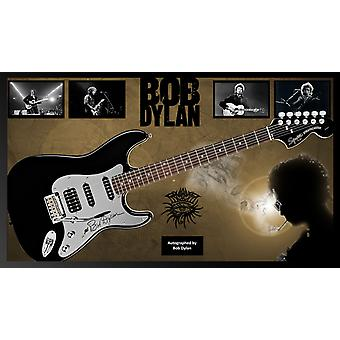 Bob Dylan - Signed Guitar Custom Framed