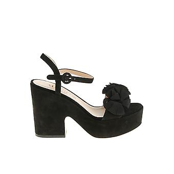 Alberto Gozzi ladies BRIT222CAMNERO Black Suede sandals