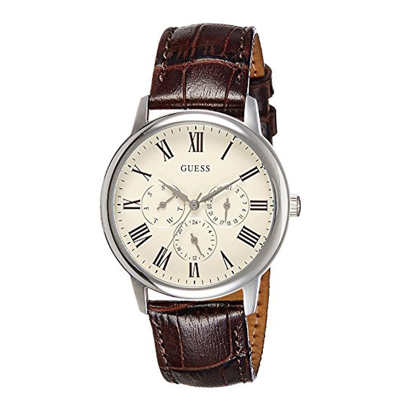 見事な推測メンズ腕時計ブラウン レザー クロノ上品な英国保証 W70016G2