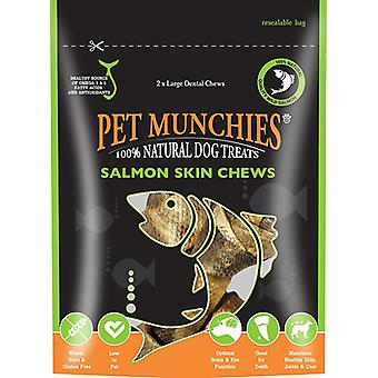 Pet Munchies hund Treat laks hud tygge