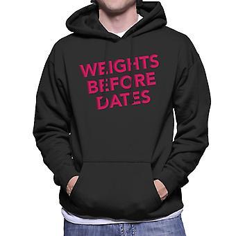 Gewichte vor Terminen Turnhalle Inspiration Herren Sweatshirt mit Kapuze
