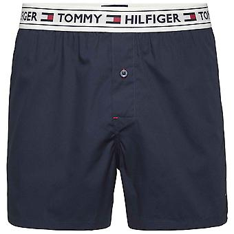Tommy Hilfiger Authentic Woven Boxer, Navy Blazer, Medium