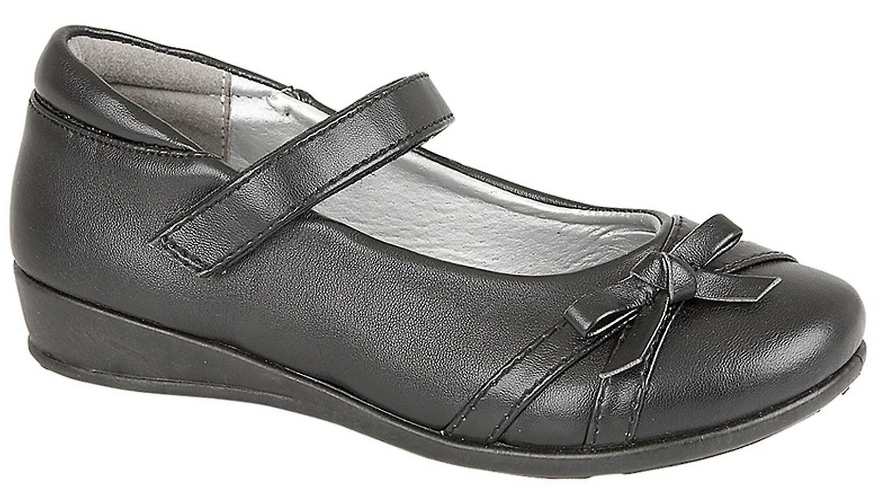 Infant Girls Touch Fastening Formal Bow Trim School Return Bar Formal Fastening Shoes 97f805