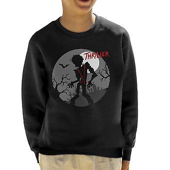 Michael Jackson Thriller Graveyard Silhouette Kid's Sweatshirt