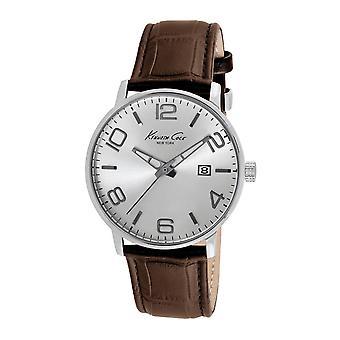 Kenneth Cole New York men's wrist watch analog quartz leather 10012403 / KC8006