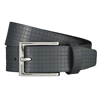 OTTO KERN belts men's belts leather belt grey 4492 sign