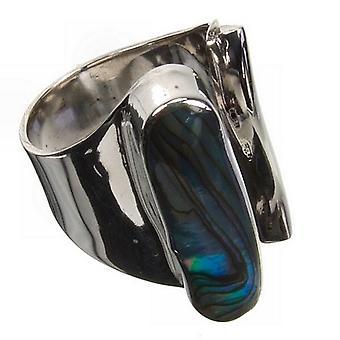Abalone kunst Silver Ring