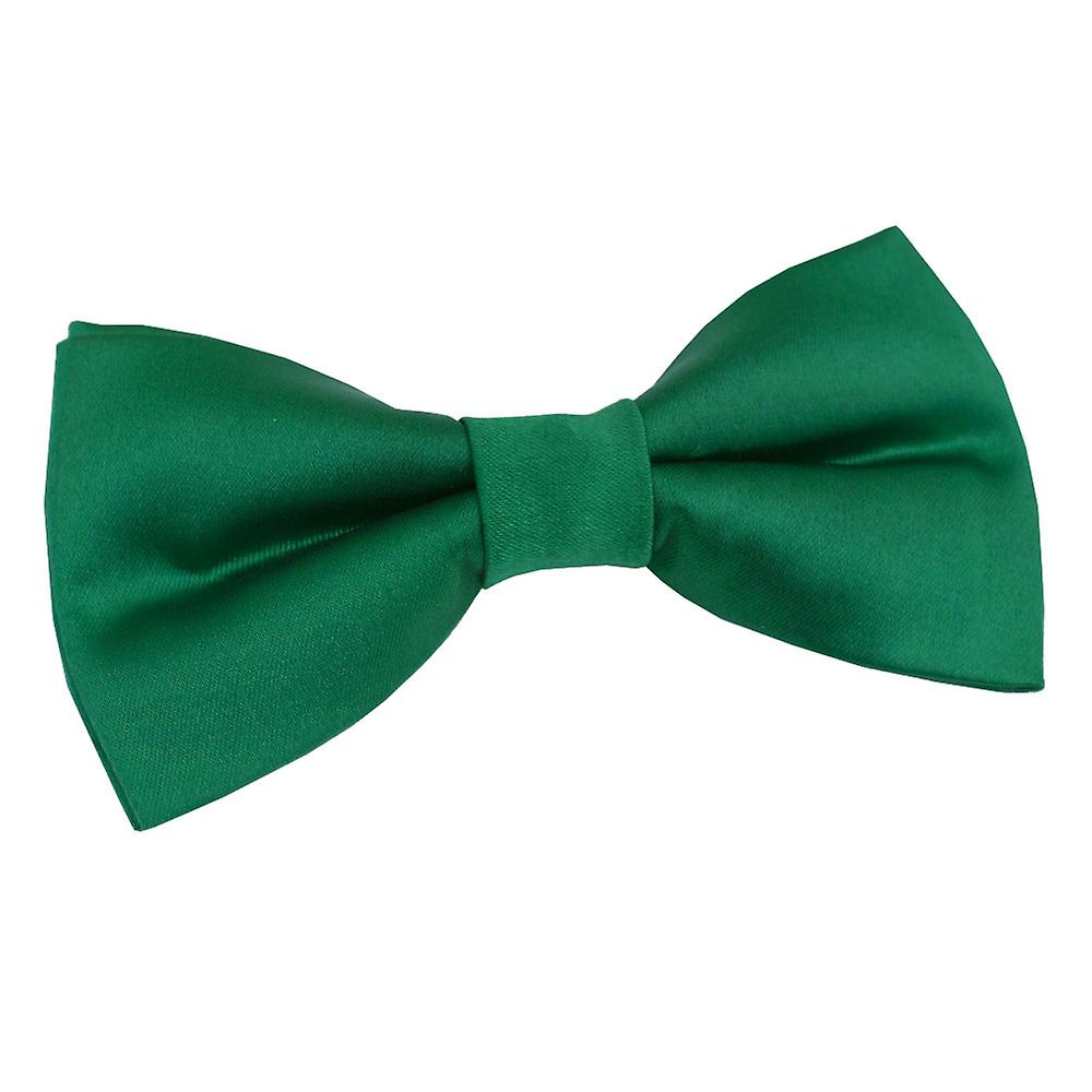Emerald Green oformaterad Satin pre bunden fluga