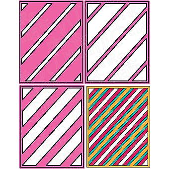 Pink And Main Dies-Layered Stripes
