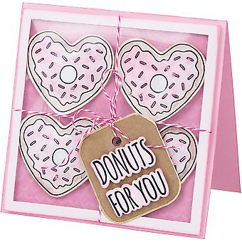 Sizzix Framelits Die & Stamp Set By Jen Long -Donuts For You
