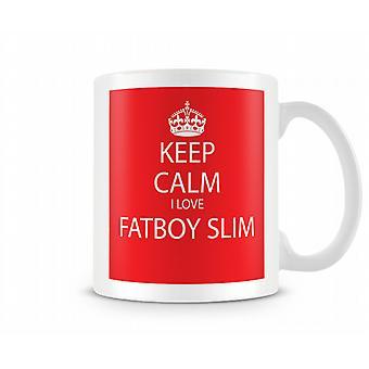 Hålla lugna jag kärlek Fatboy Slim tryckta mugg