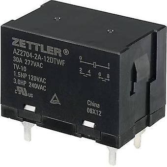 Zettler Electronics AZ2704-2A-12DTWF PCB relays 12 Vdc 30 A 2 makers 1 pc(s)