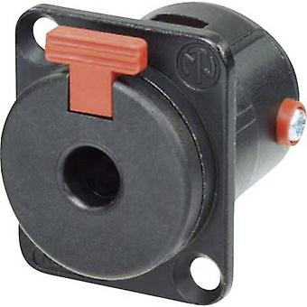 6.35 mm audio jack Sleeve socket, straight pins Number of pins: 2 Mono Black Neutrik NJ3FP6CBAG 1 pc(s)
