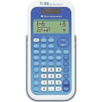 Texas Instruments TI-34 MULTIVIEW CAS calculatrice White, Blue Display (chiffres): 16 solaire, alimenté par batterie (W x H x D) 80 x 19 x 158 mm