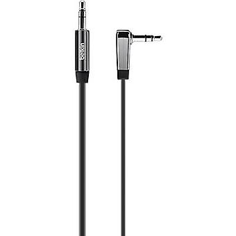 Belkin Jack Audio/phono Cable [1x Jack plug 3.5 mm - 1x Jack plug 3.5 mm] 2 m Black highly flexible