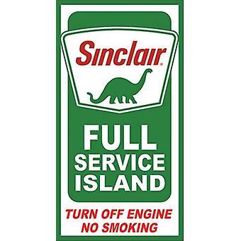 Синклер полный сервис остров металлический знак