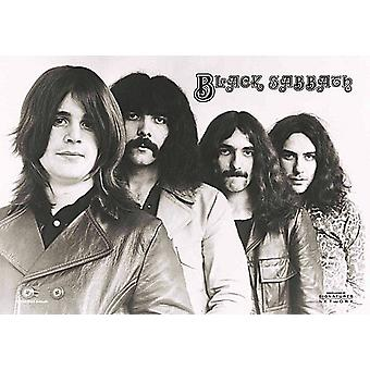 Black Sabbath Group Shot Large Fabric Poster / Flag 1100Mm X 750Mm
