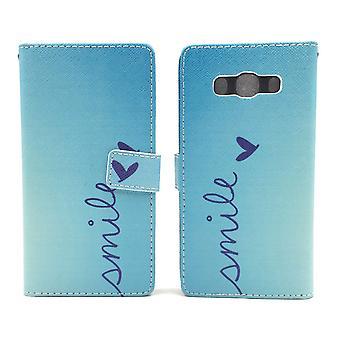 Teléfono móvil Funda para móvil Samsung Galaxy J5 (2016) Letras sonrisa Blau