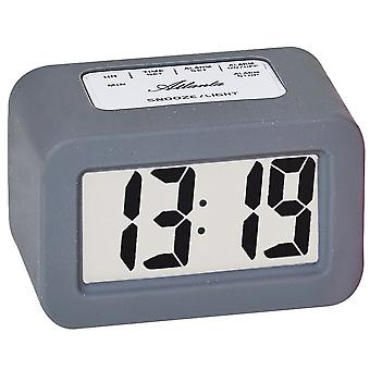 Atlanta 1971/4 alarm clock quartz digital grey digital alarm clock with snooze light