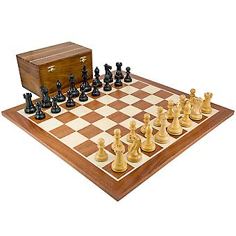 Competition Black Staunton Chess Set with Case