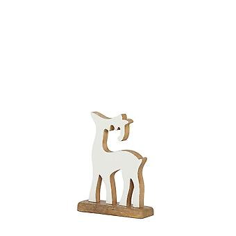 Light & Living Ornament 12,5x5x19 Cm DEER White-wood Natural