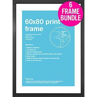 GB affiches 6 MDF noir affiche cadres 60 x 80cm Bundle