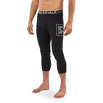 Mons Royale Black Shaun-Off 3-4 Baselayer Pants