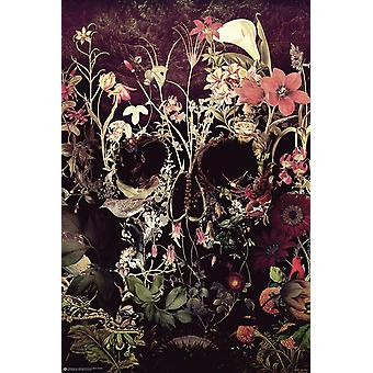 Bloom Skull Poster Ali Gülec