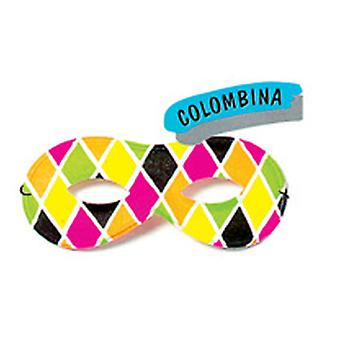 Special Carnival Mask Colombina Butterfly