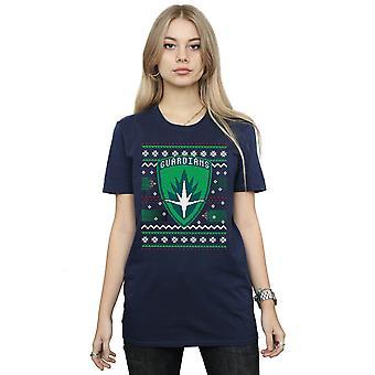 Marvel Women's Guardians of the Galaxy Fair Isle Boyfriend Fit T-Shirt