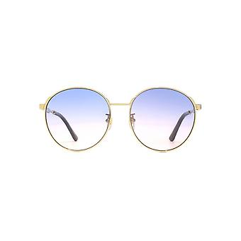 Gucci Metal Round Sunglasses In Gold Multi